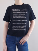 Load image into Gallery viewer, Fashion Tee- Black