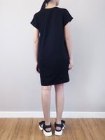 Load image into Gallery viewer, Dress With Front Slogan - Black