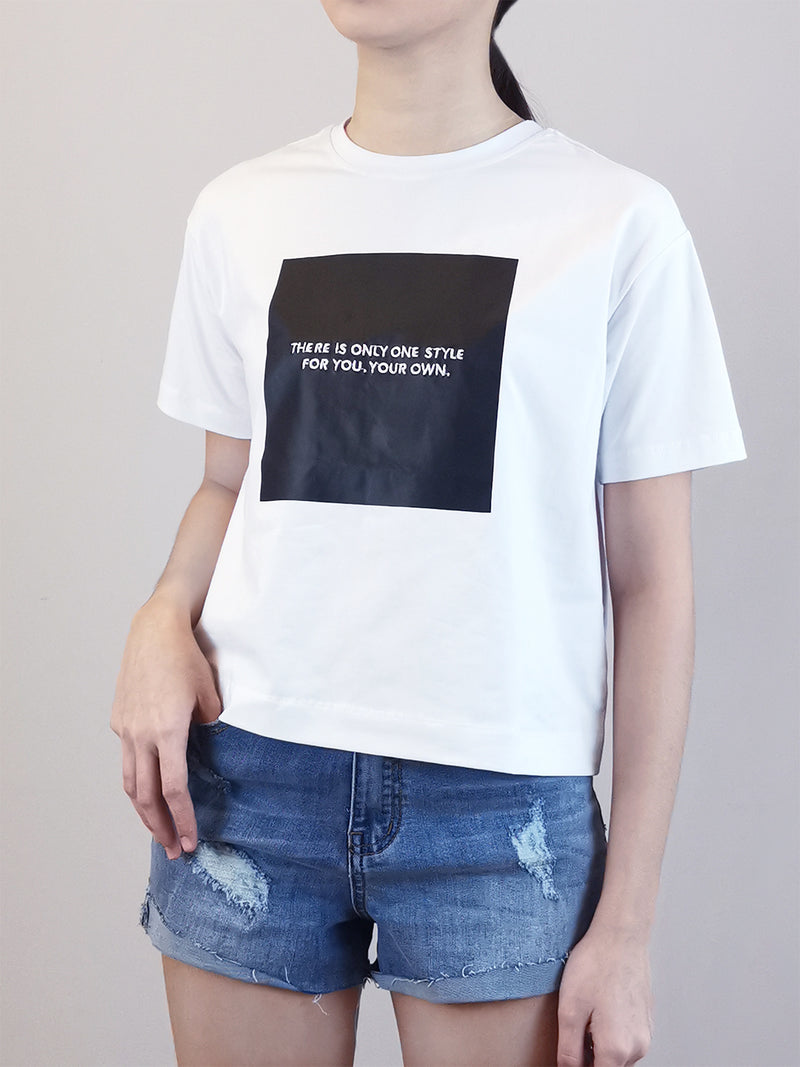 Women Fashion Tee- White - M0W550