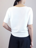 Load image into Gallery viewer, V-Neck Knit Top- White