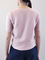Load image into Gallery viewer, V-Neck Knit Top- Pink