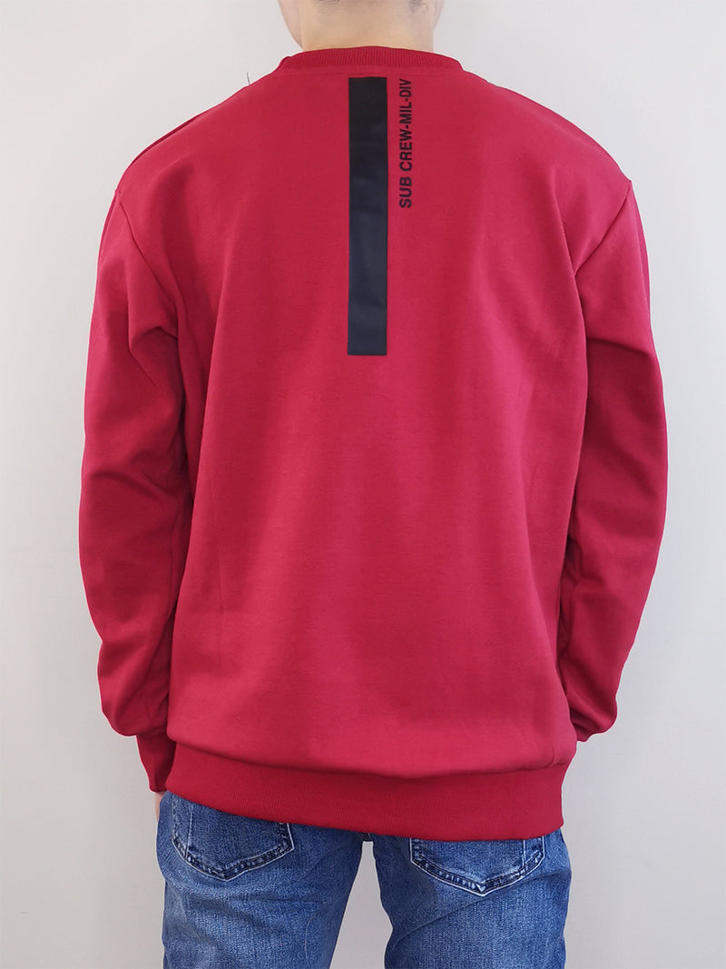 Men Long Sleeve Sweatshirt - Dark Red