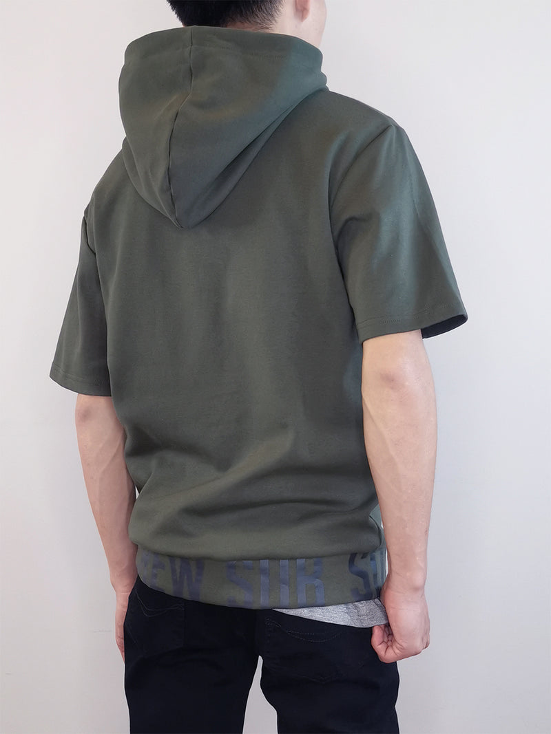 Men Oversized Hoodie- Army Green-M0M483