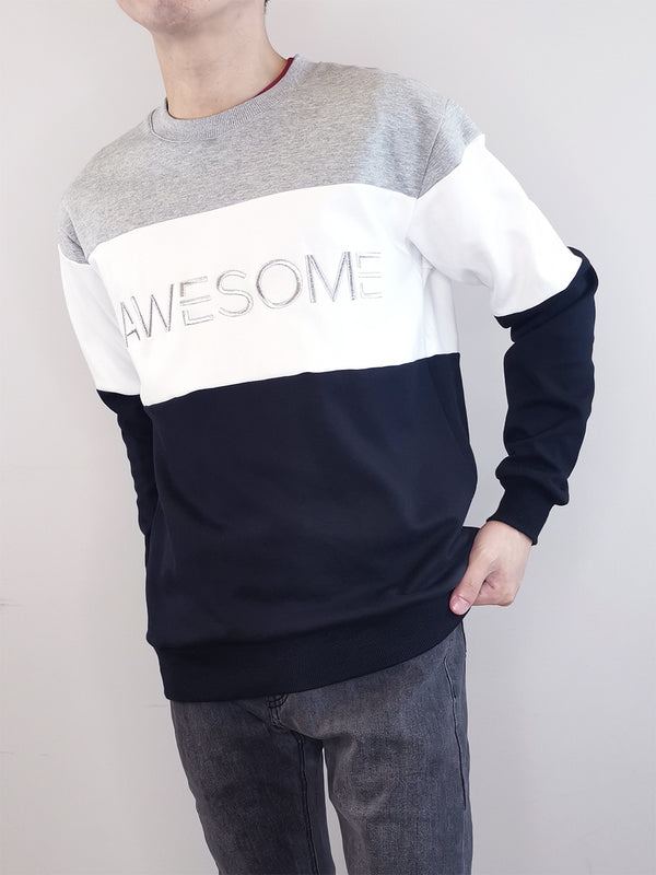 Colour Block Sweatshirt- Black