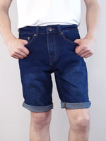 Load image into Gallery viewer, Denim Bermuda Shorts - Dark Blue