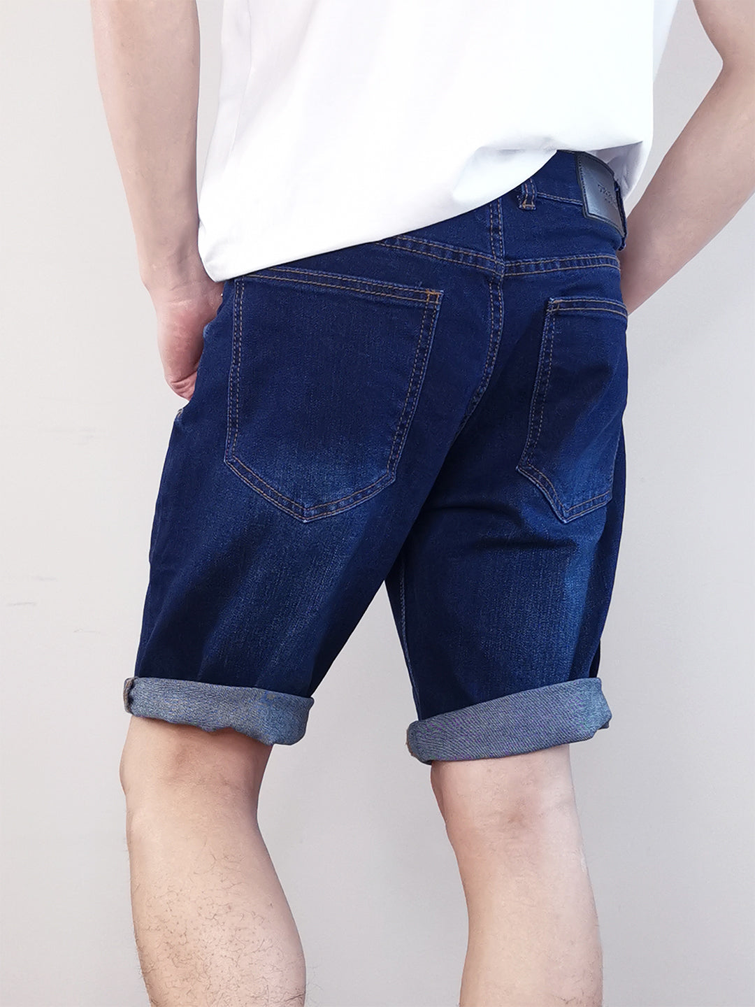 Denim Bermuda Shorts - Dark Blue