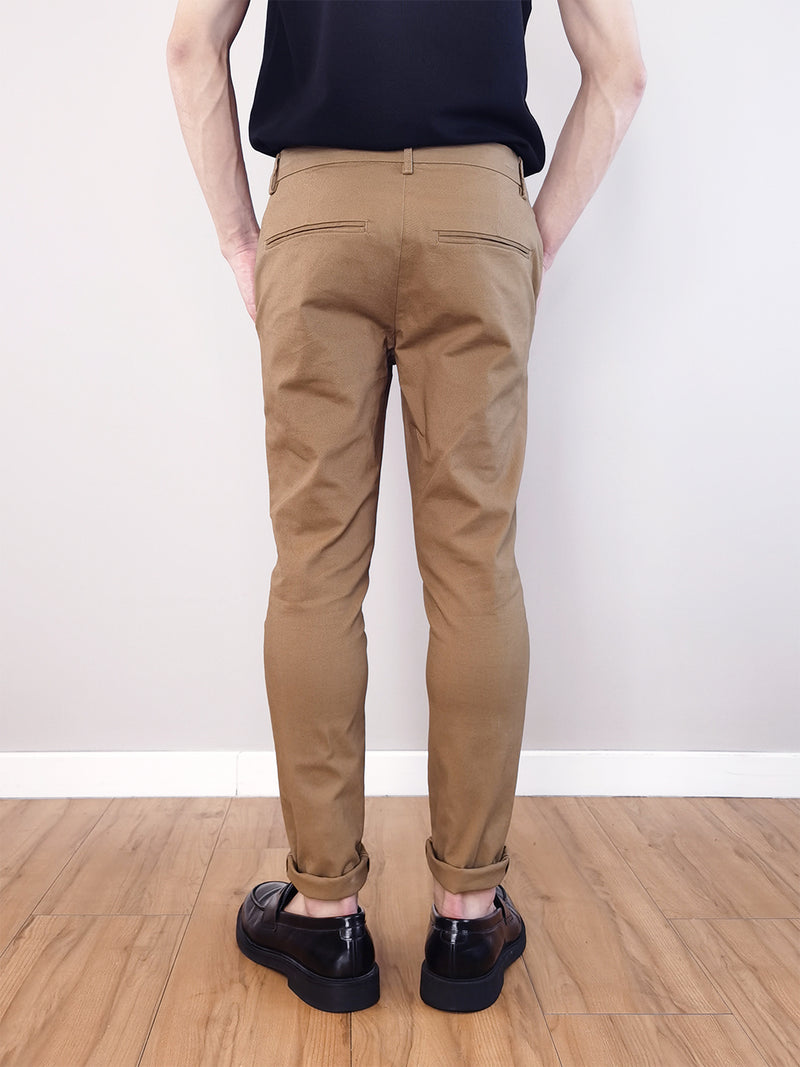 Slim Fit Chinos- Khaki