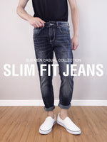 Load image into Gallery viewer, Slim Fit Jeans-Dark Blue
