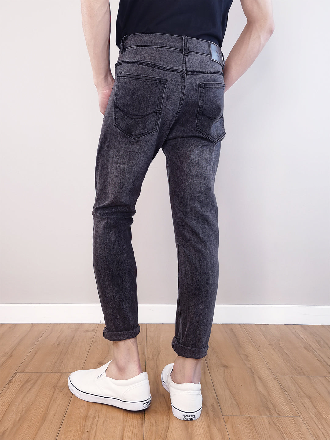 Long Jeans Skinny Fit - Grey