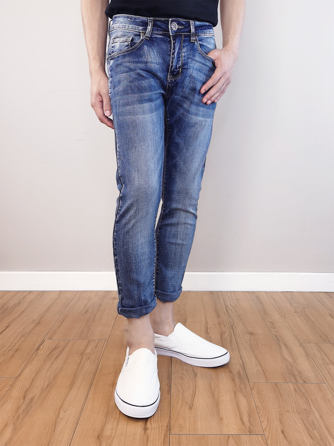 Slim Fit Jeans-Blue