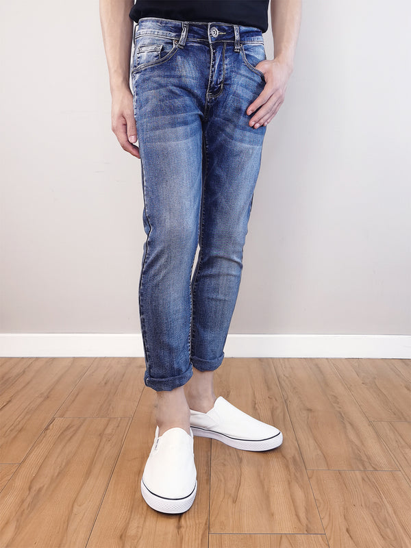 Men Slim Fit Jeans-Blue