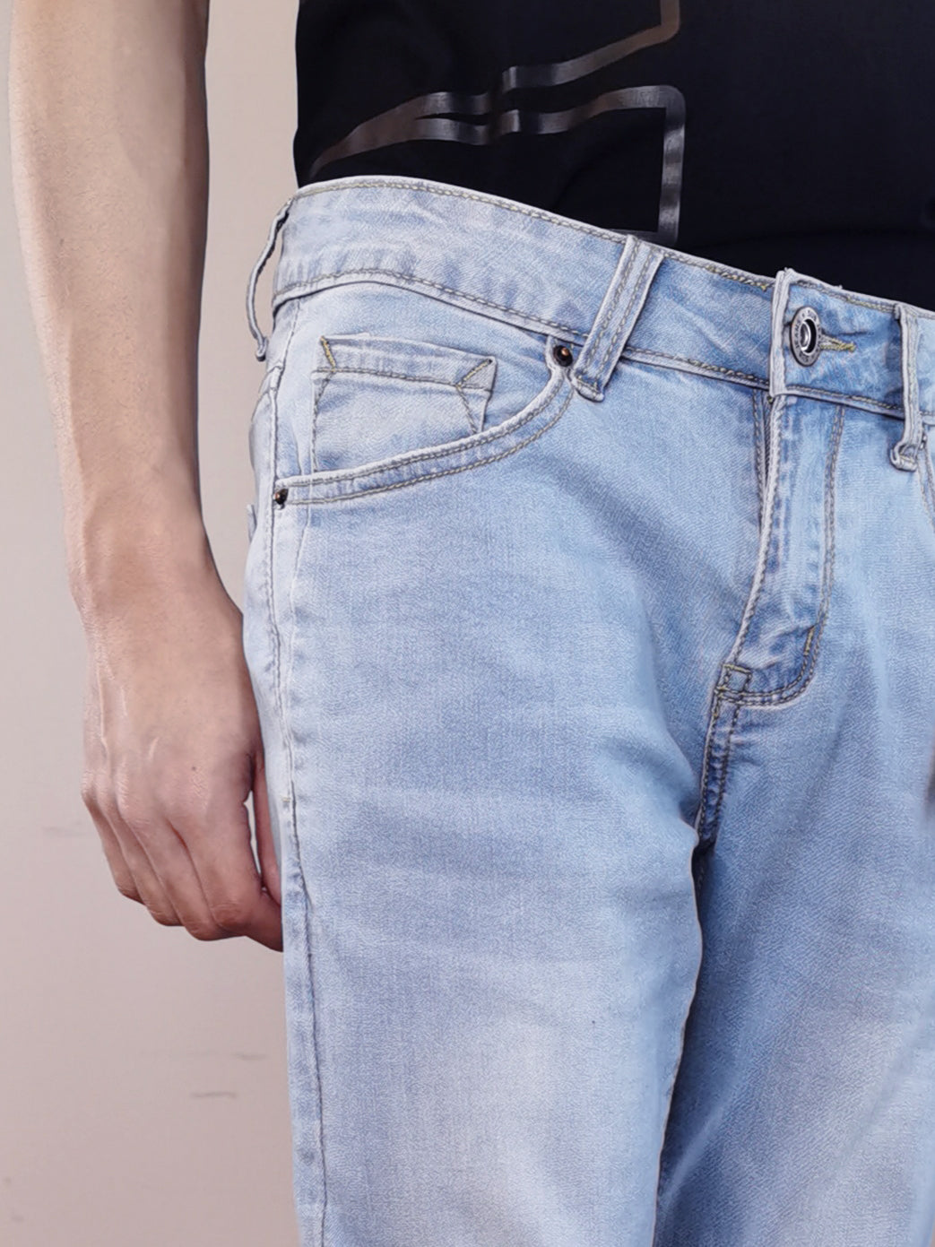 Slim Fit Jeans-Light Blue