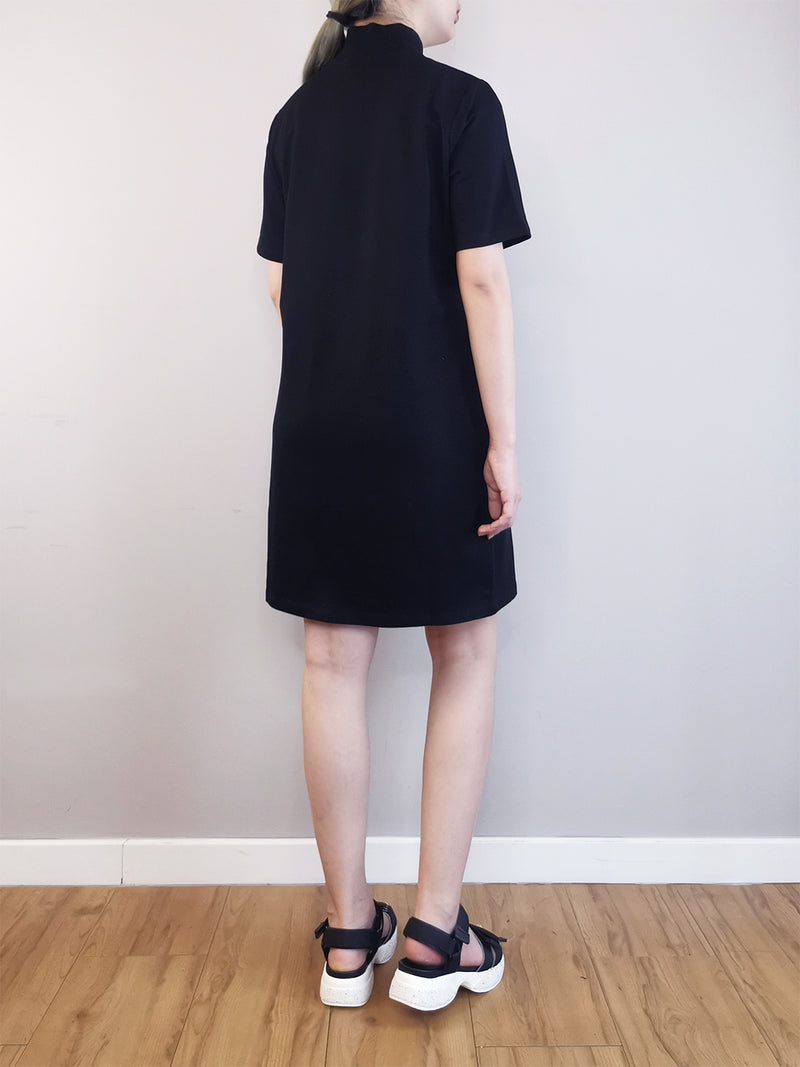 Women Sweater Dress  - Black