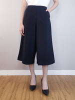 Load image into Gallery viewer, Wide-Leg Trousers-Black