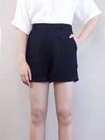 Load image into Gallery viewer, Elastic Shorts-Black