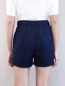 Elastic Shorts-Navy