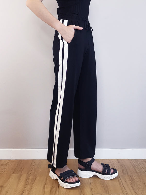Women Knit Long Jogger - Black