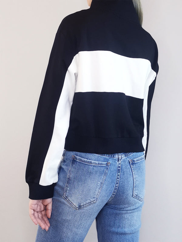 Women Long Sleeve Sweatshirt - Black