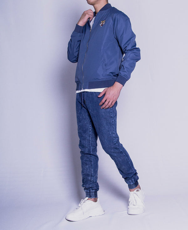Men Bomber Jacket - Blue - F9M104