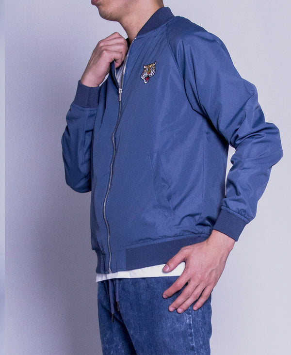 Men Bomber Jacket - Blue
