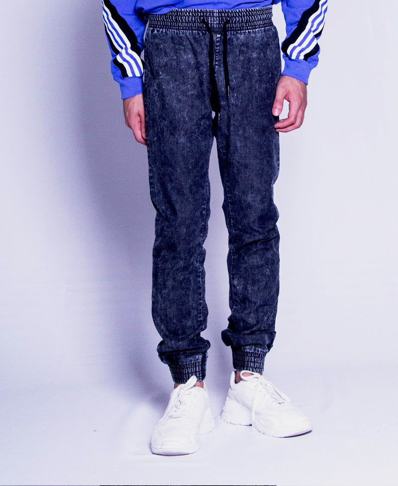 Men Long Pants Jogger - Black - F9M211