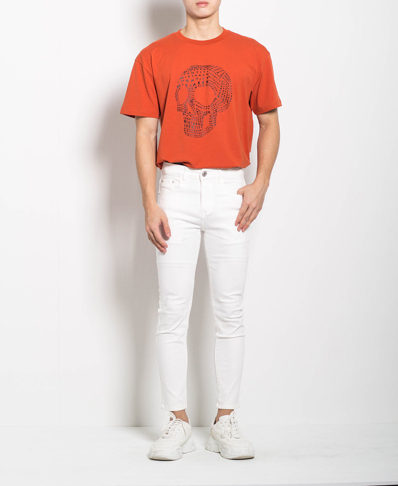 Men Long Jeans - White - M0M622