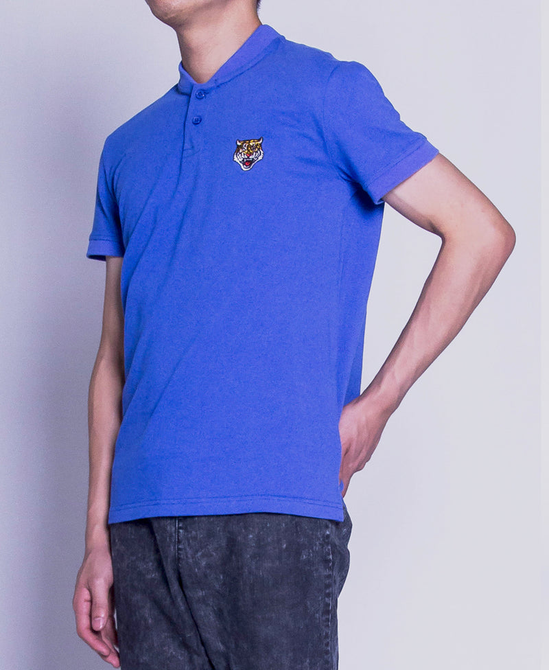 Men Polo Tee - Blue-F9M090