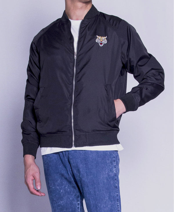 Men Bomber Jacket - Black