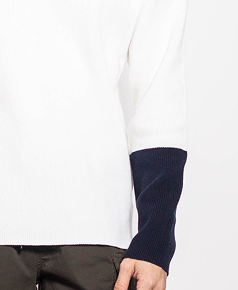 Men Long Sleeve Knitwear - White