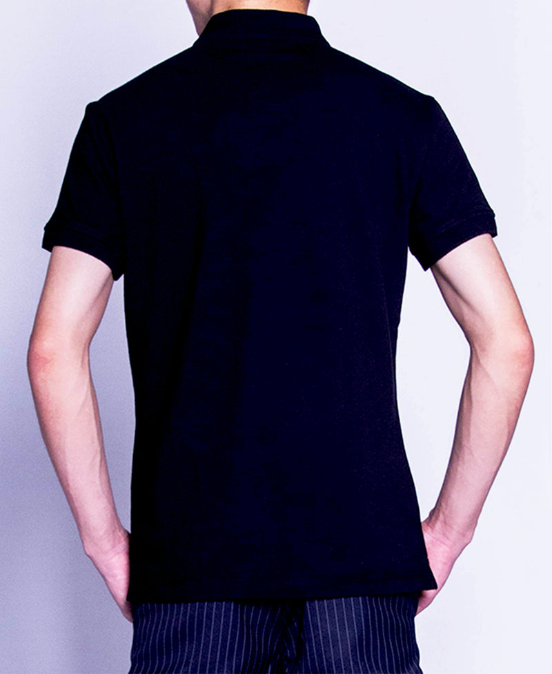 Men Polo Tee - Black-F9M086