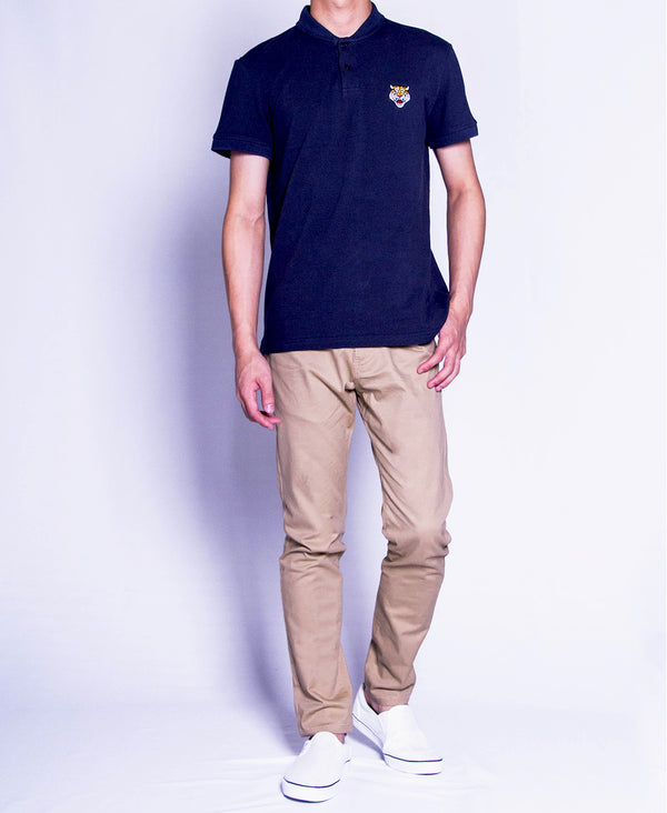 Men Polo Tee - Navy