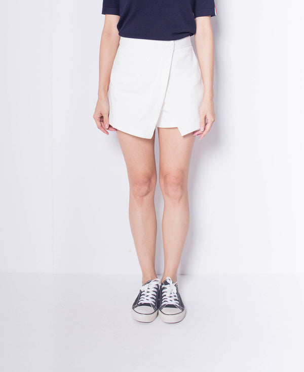 Women Wrap Skort - White
