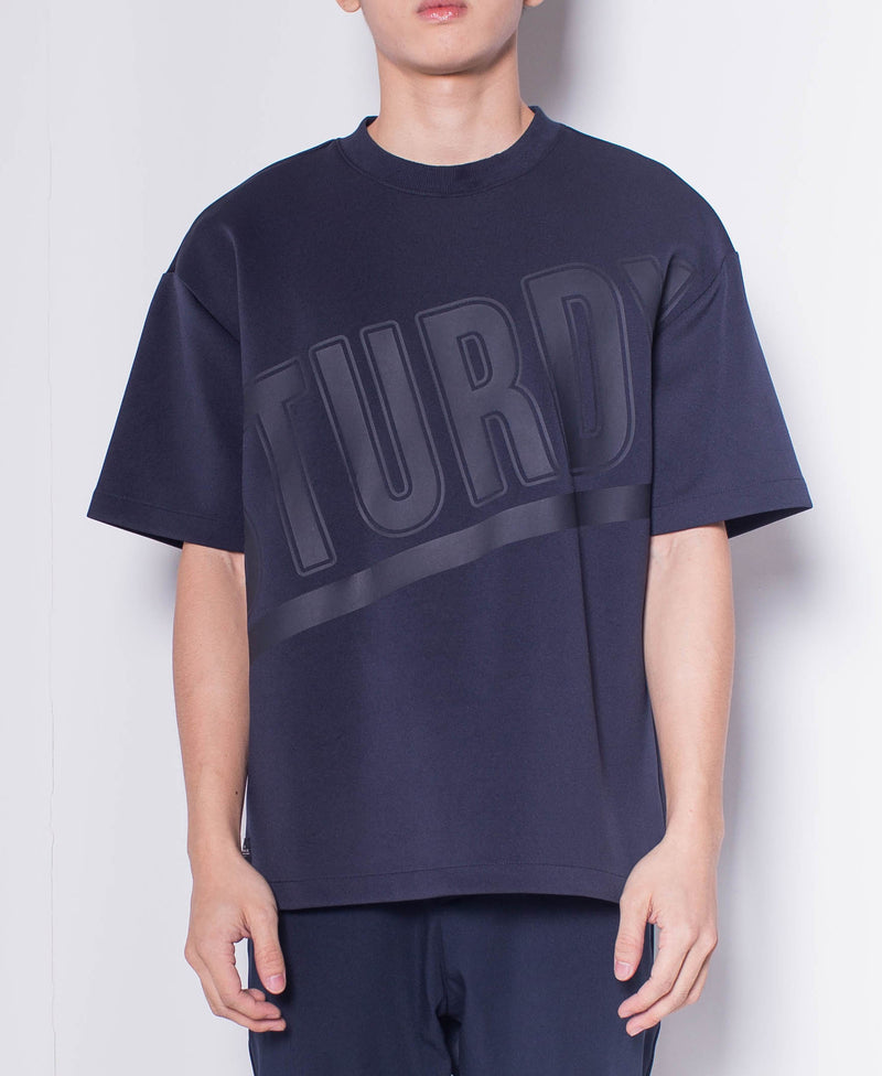 Men Short-Sleeve Oversized Sweatshirt - Navy