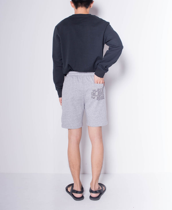 Men Knit Short Jogger - Grey