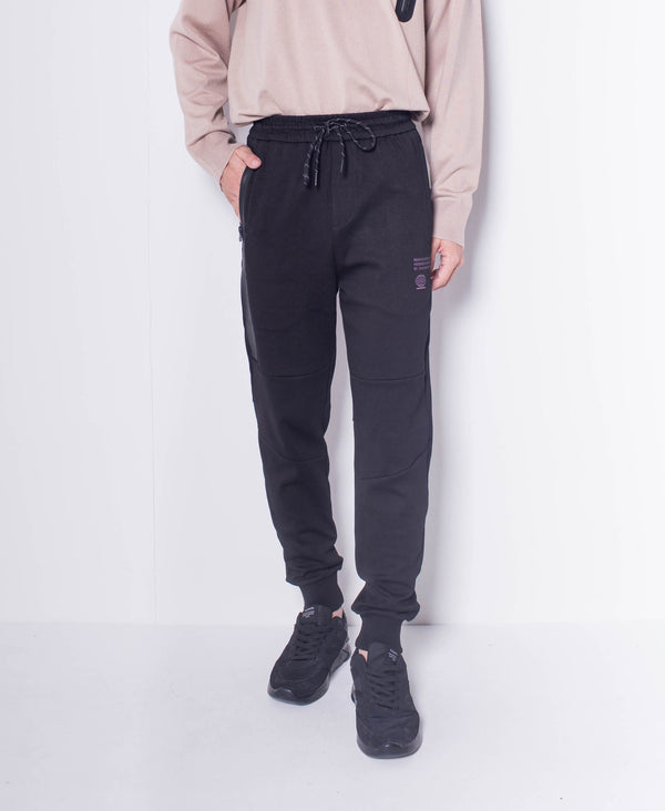 Men Knit Long Jogger - Black
