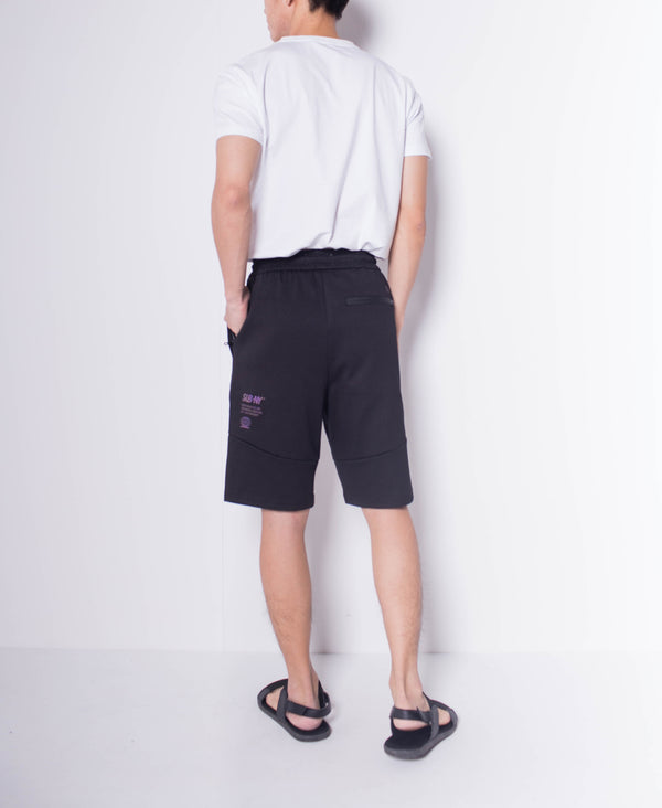 Men Knit Short Jogger - Black