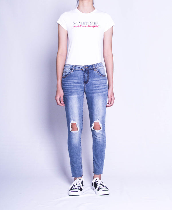 Women Long Jeans - Blue