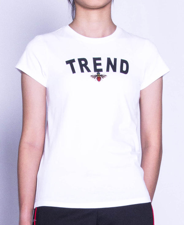 Women Short Sleeve Graphic Tee - White