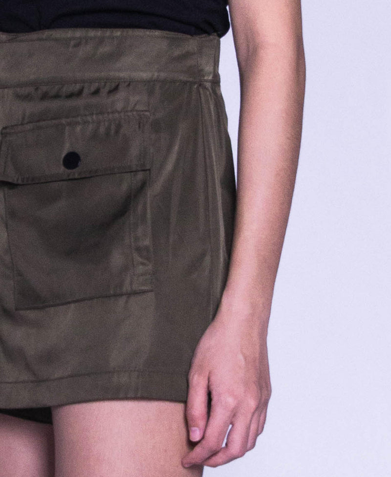 Women Short Pants Green - F9W066