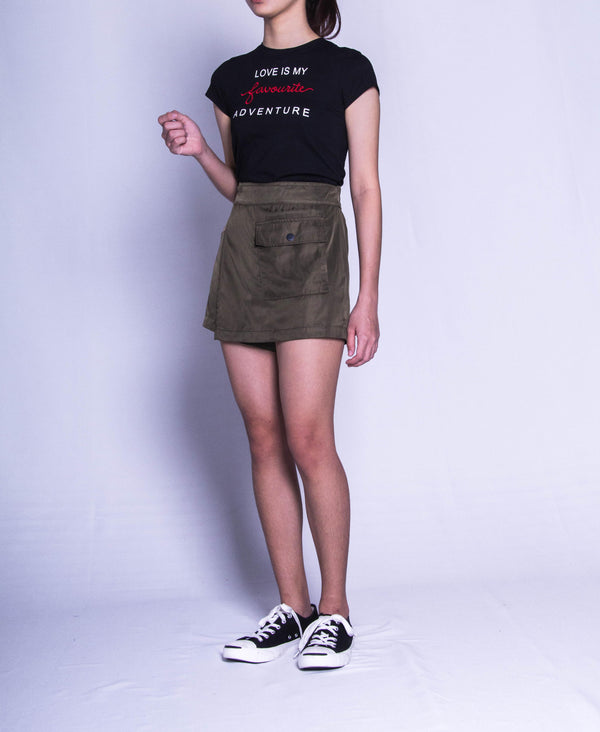 Women Short Pants Green