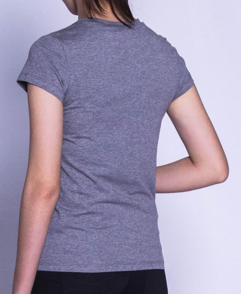Women Short Sleeve Graphic Tee - Grey