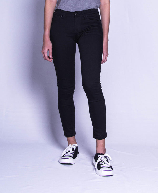 Women Long Jeans - Black