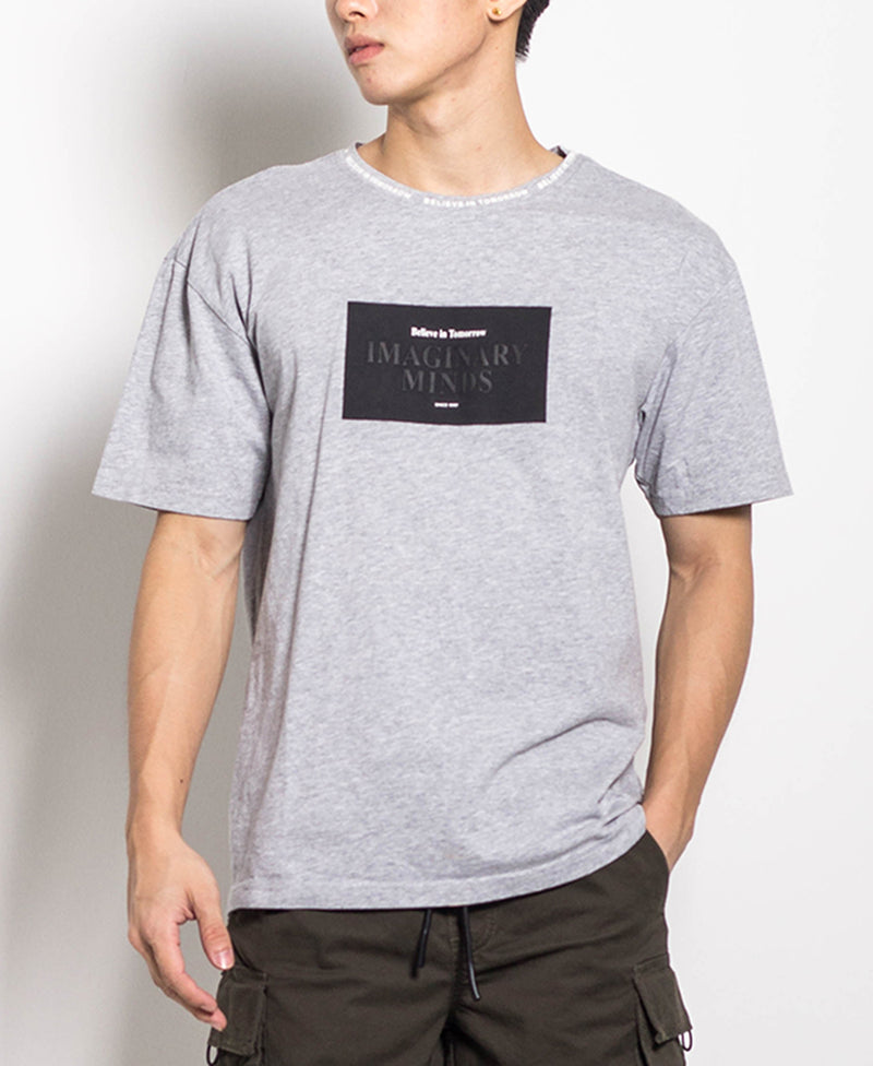 Men Oversized Fashion Tee - Grey
