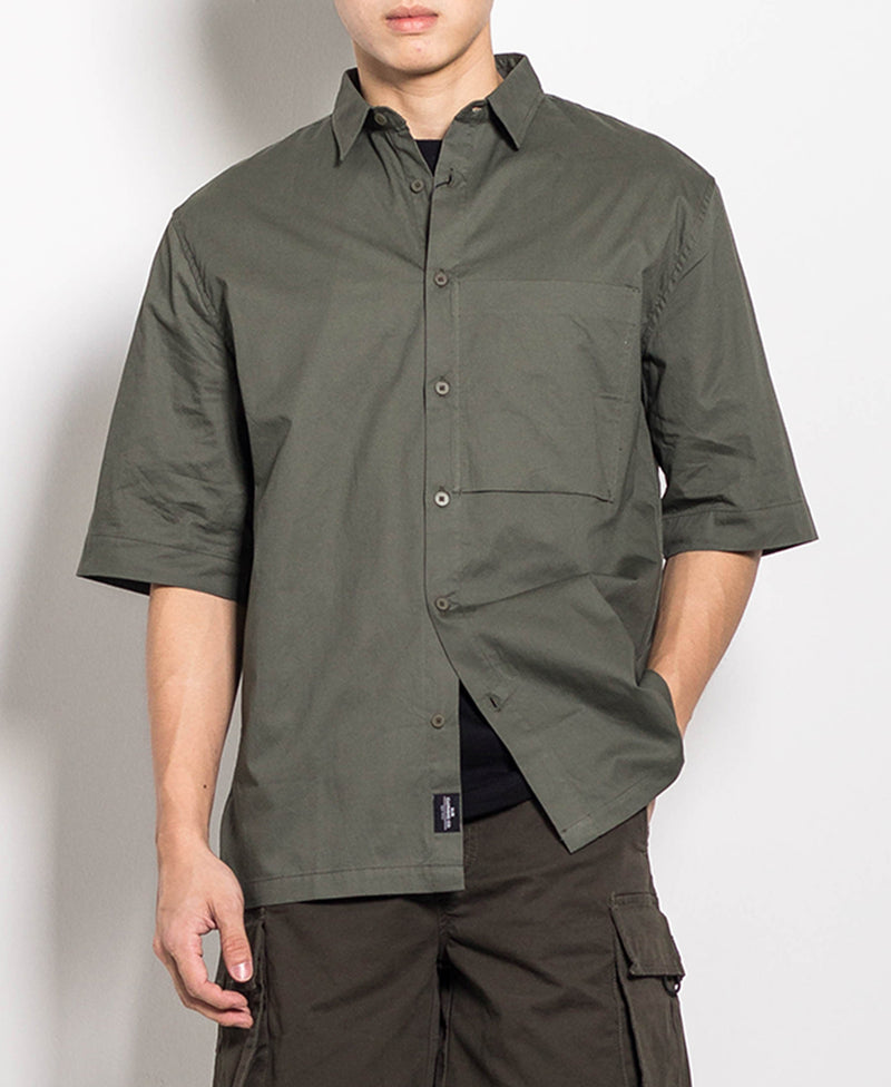 Men Shirt - Army Green