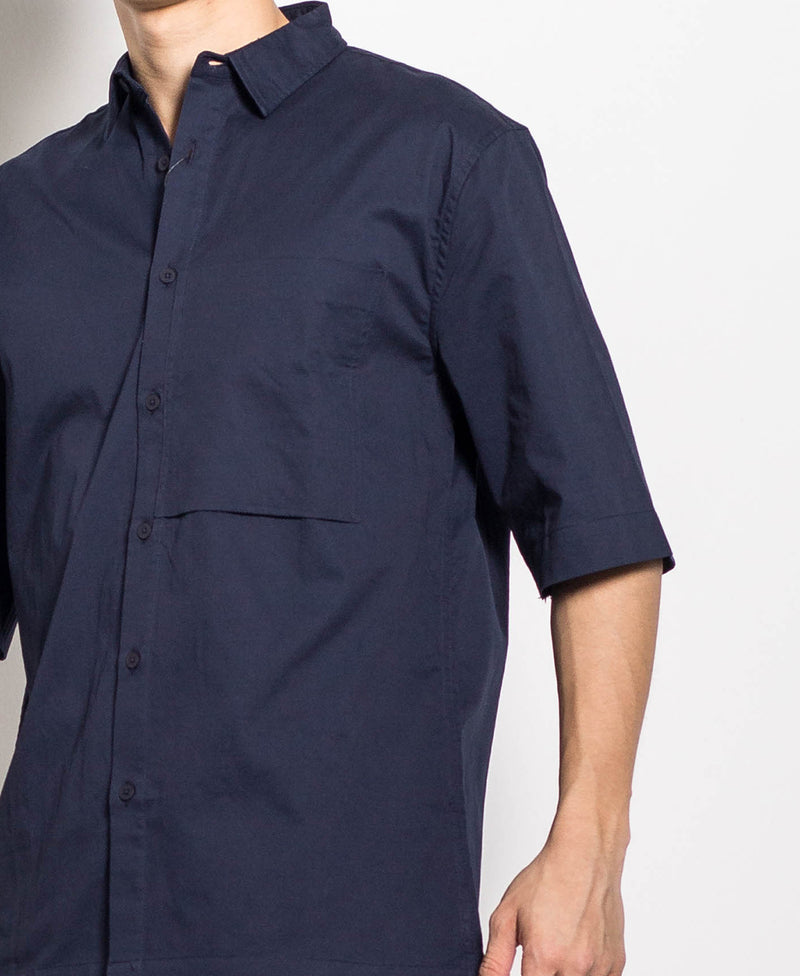 Men Shirt - Navy - H0M664