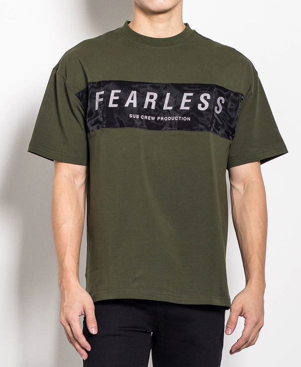 Men Oversized Fashion Tee - Army Green