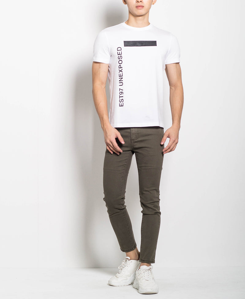Men Graphic Tee - White - M0M463