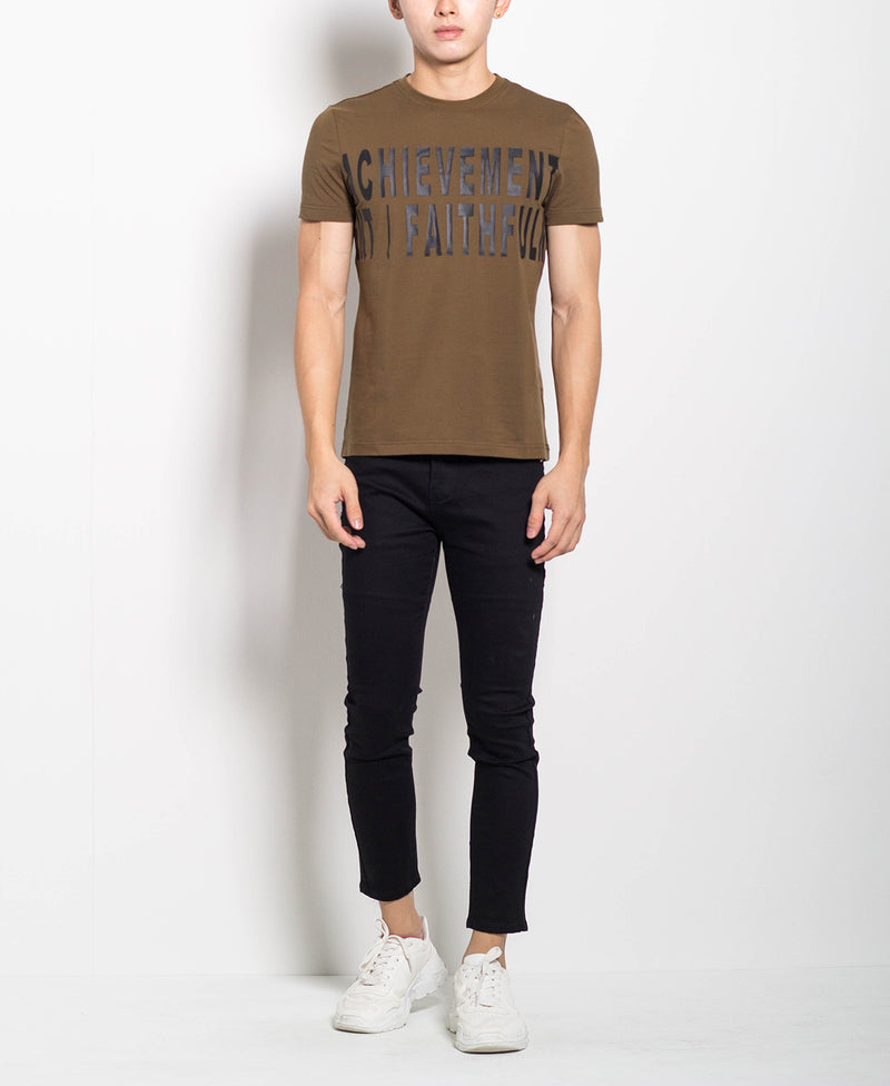 Men Graphic Tee - Army Green - M0M465