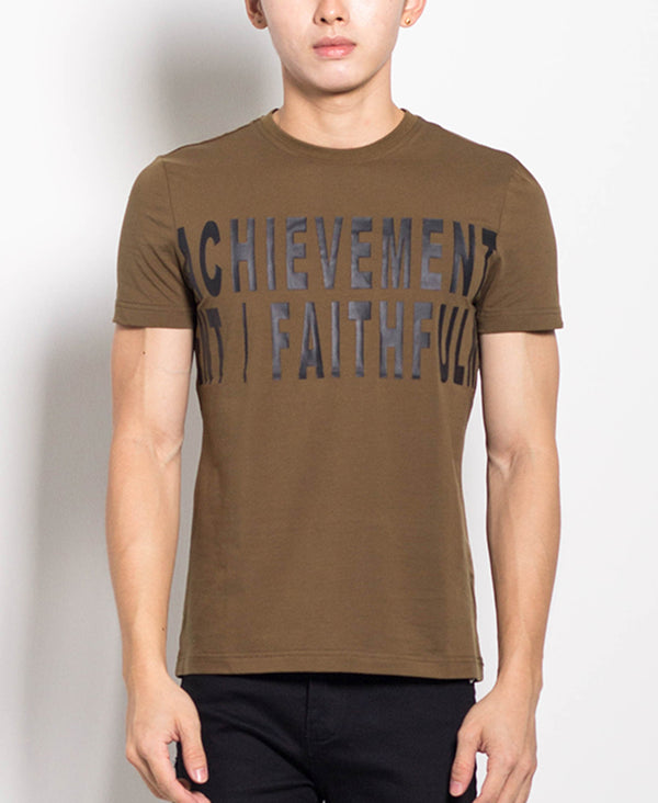 Men Graphic Tee - Army Green