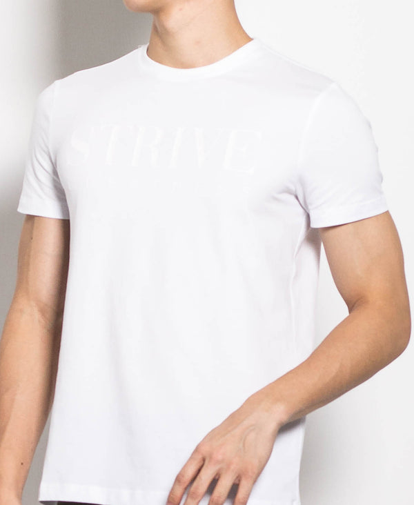 Men Graphic Tee - White